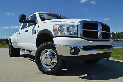 2007 Dodge Ram 3500 SLT 2007 Dodge Ram 3500 Mega Cab SLT 4x4 5.9L Cummins Diesel Six Speed Leather
