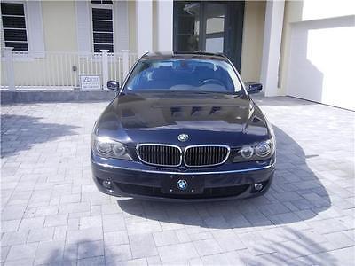 2008 BMW 7-Series 750Li 2008 BMW 7 Series 750 Li Blue Exterior with Gray Interior Clean Car Fax Pristine