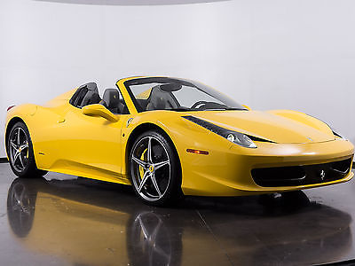 2015 Ferrari 458 -- 2015 Ferrari 458 Spider  Giallo Convertible Hard Top V8
