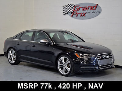 2013 Audi S6 2013 Audi S6 Warranty MSRP $78k Cold Wthr Pkg White Diamond Stitch Blind Spot