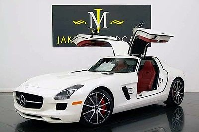 2013 Mercedes-Benz SLS AMG GT GULLWING (FACTORY WARRANTY!) 2013 SLS GT GULLWING, ONLY 6900 MILES! DESIGNO MYSTIC WHITE ON RED! WARRANTY!