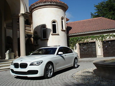 2011 BMW 7-Series 4 Door Sedan FLORIDA, xDRIVE, 750LI, M PACKAGE, REAR TV'S, 360 CAMERAS, 1 OWNER, AWD,