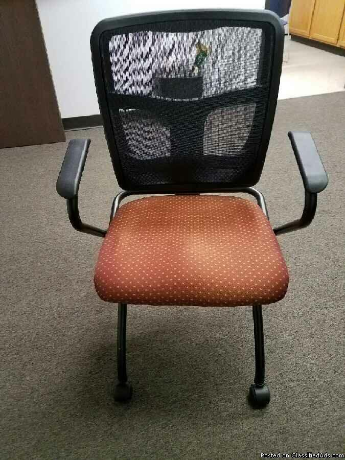 OFT-056 - Orange & Black - - EXCELLENT CONDITION Task Chair