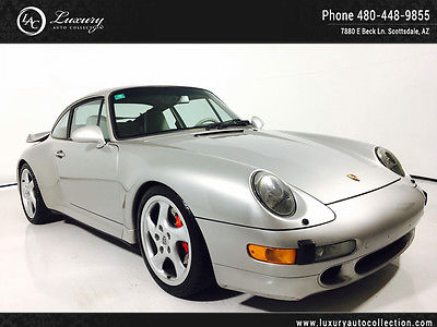 1997 Porsche 911 Turbo Coupe 2-Door 911 Turbo Arctic Silver Supple Leather Red Calipers 96 95
