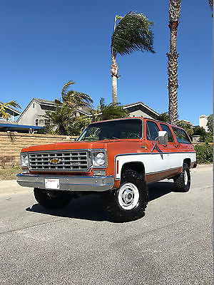 1975 Chevrolet Suburban Scottsdale 1975 Chevy Suburban 4WD Original Survivor - Amazing Condition - Rare!