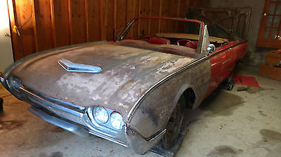 1961 Ford Thunderbird Convertible 1961 Ford Thunderbird Convertible Project - Red/Red - Complete Car