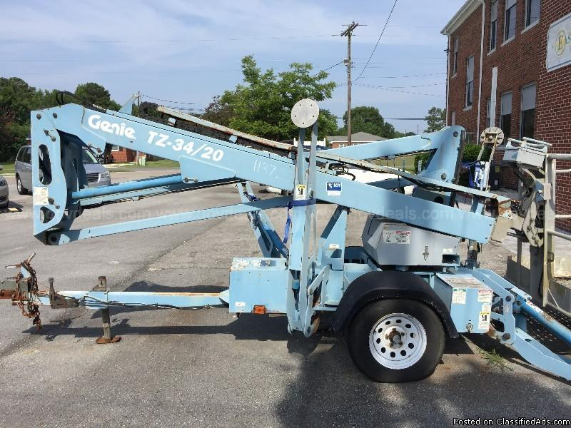 Genie trailer mounted boom lift