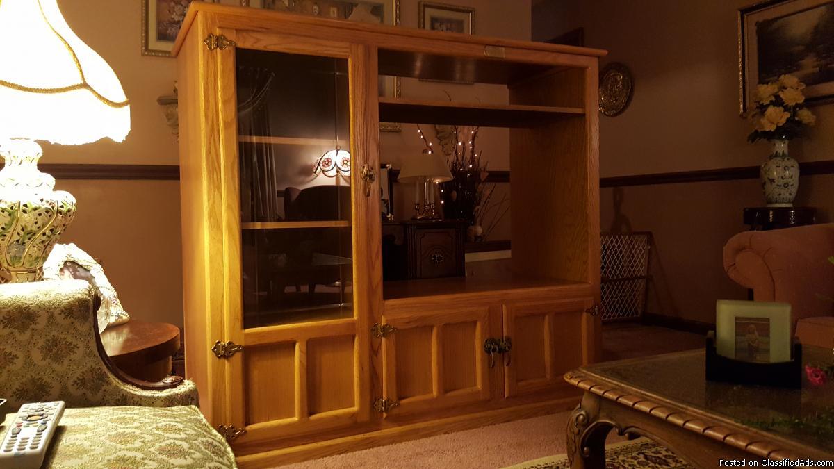 Entertainment Center Cabinet, 1