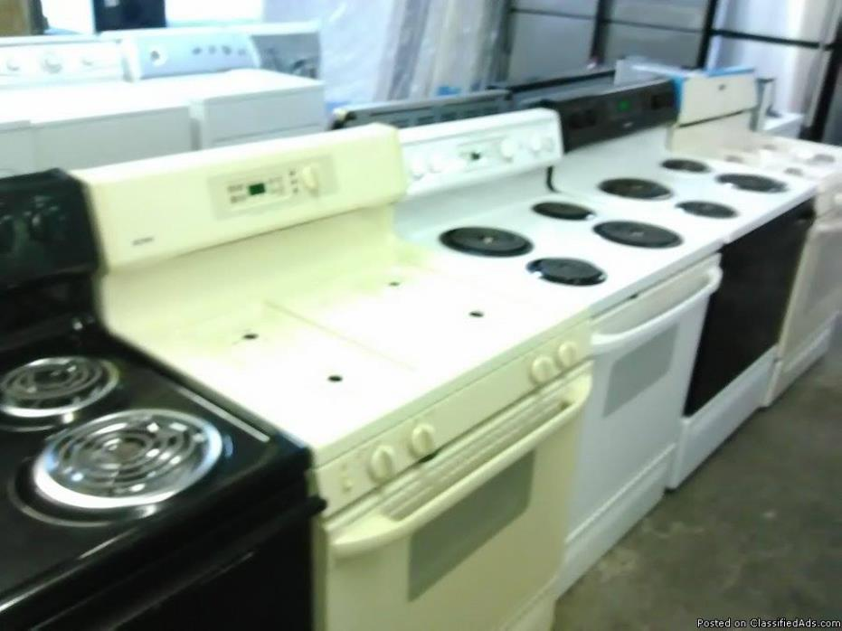 Used clean appliances with warranty !!!