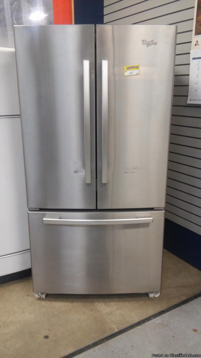 WHIRLPOOL STAINLESS FRENCHDOOR FRIDGE