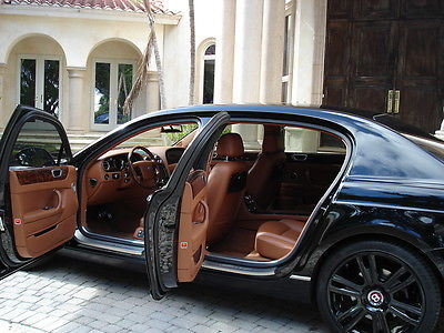 2011 Bentley Flying Spur 4 Door Sedan FLORIDA, FLYING SPUR, RARE 2 REAR SEAT OPTION, BLACK 21 RIMS