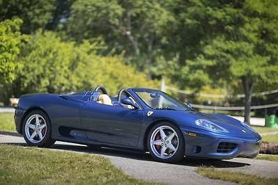 2004 Ferrari 360 360 Spider - TDF Blue/ Tan - 6 speed stick shift 2004 Ferrari 360 Spider - TDF Blue over Tan - 6 speed Stick Shift