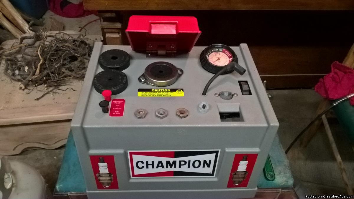 champion spark plug cleaner/tester.model ct 475