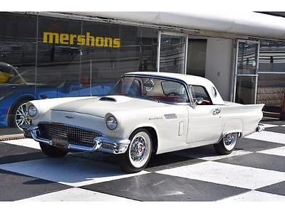 1957 Ford Thunderbird  1957 Ford Thunderbird Convertible - White / Red Interior, Porthole Hardtop, Auto