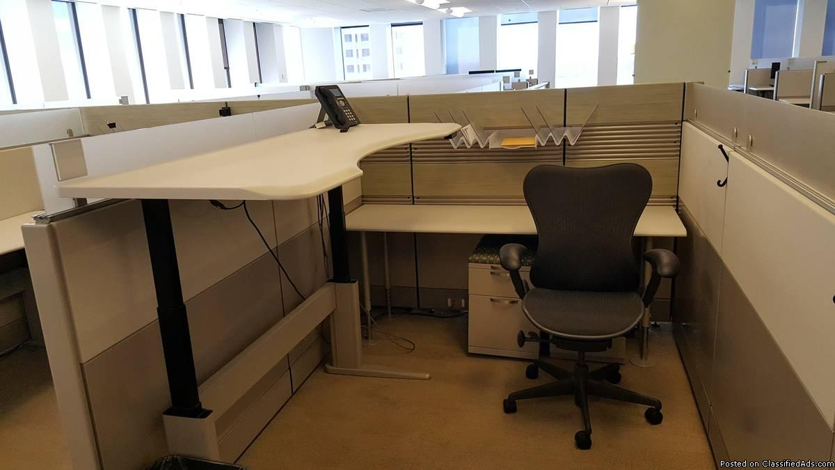 EEL-043 - Grey - 6x7, 6x8 Herman Miller Ethospace Cubicles