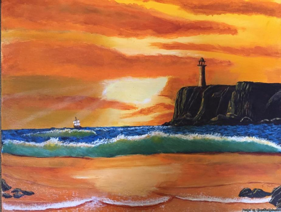 Orange Evening seascape