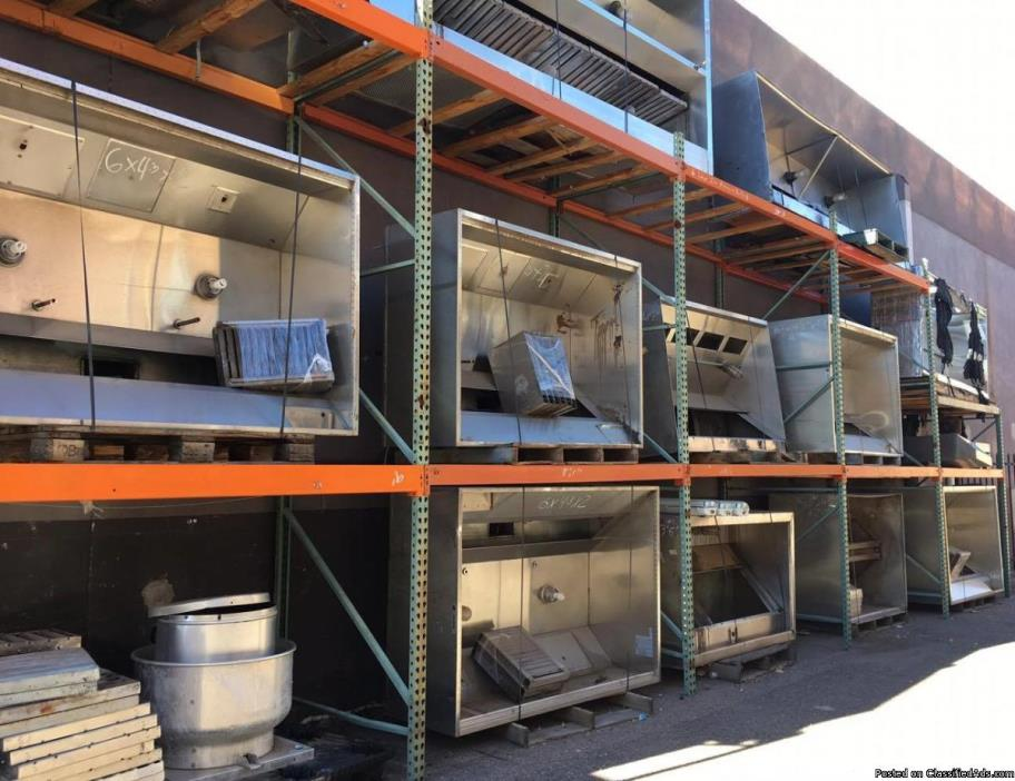 Used / New Restaurant Exhaust Hoods for Sale