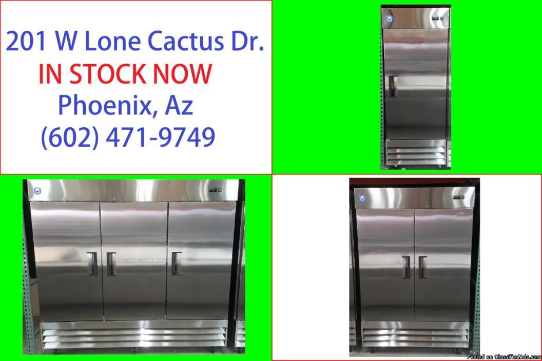 Reach In Freezer Refrigerator Refrigerated Cooler Restaurant Equipment