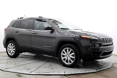 2015 Jeep Cherokee  Limited 4X4 Nav R Camera Leather Htd Seats Sat Radio Bluetooth Sunroof Must See