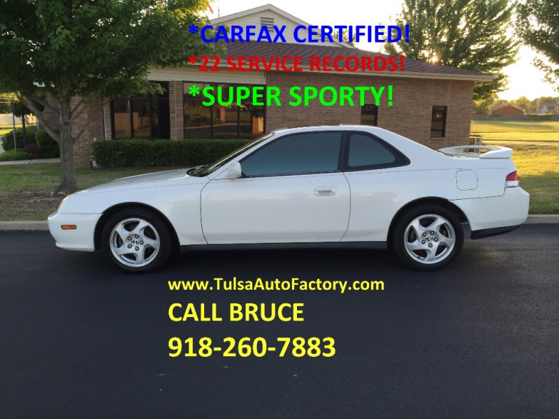 2001 HONDA PRELUDE COUPE WHITE AUTO *CARFAX CERTIFIED* *22 SERVICE RECORDS* *SUPER SPORTY*