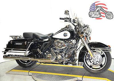 2011 Harley-Davidson Touring 2011 Black & White Harley Davidson Road King FLHR FLHP Police Mint Many Extras!!