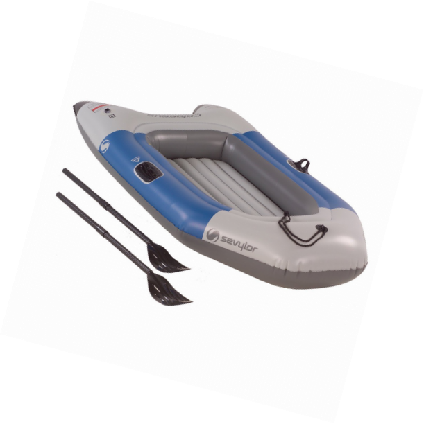 Sevylor Colossus 2 Person Inflatable Boat with Oars