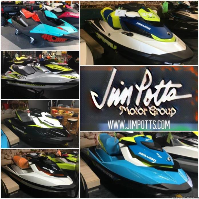 SALE! NEW 2017 2016 AND 2015 SEA-DOO WATERCRAFT BEST PRICE GUARANTEED! - AS LOW...