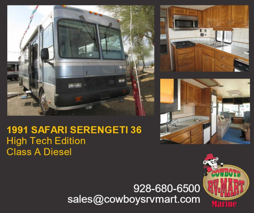 Safari Serengeti Rvs For Sale In Arizona