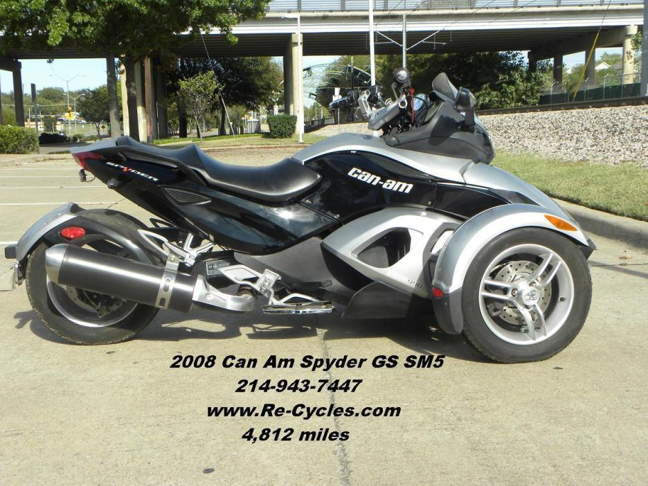 can am spyder gs sm5 motorcycles for sale in dallas texas. Black Bedroom Furniture Sets. Home Design Ideas