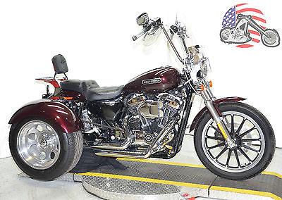 2007 Harley-Davidson Sportster 2007 Harley Davidson Sportster XL1200L 1200 Low Frankenstein Trike Many Extras!