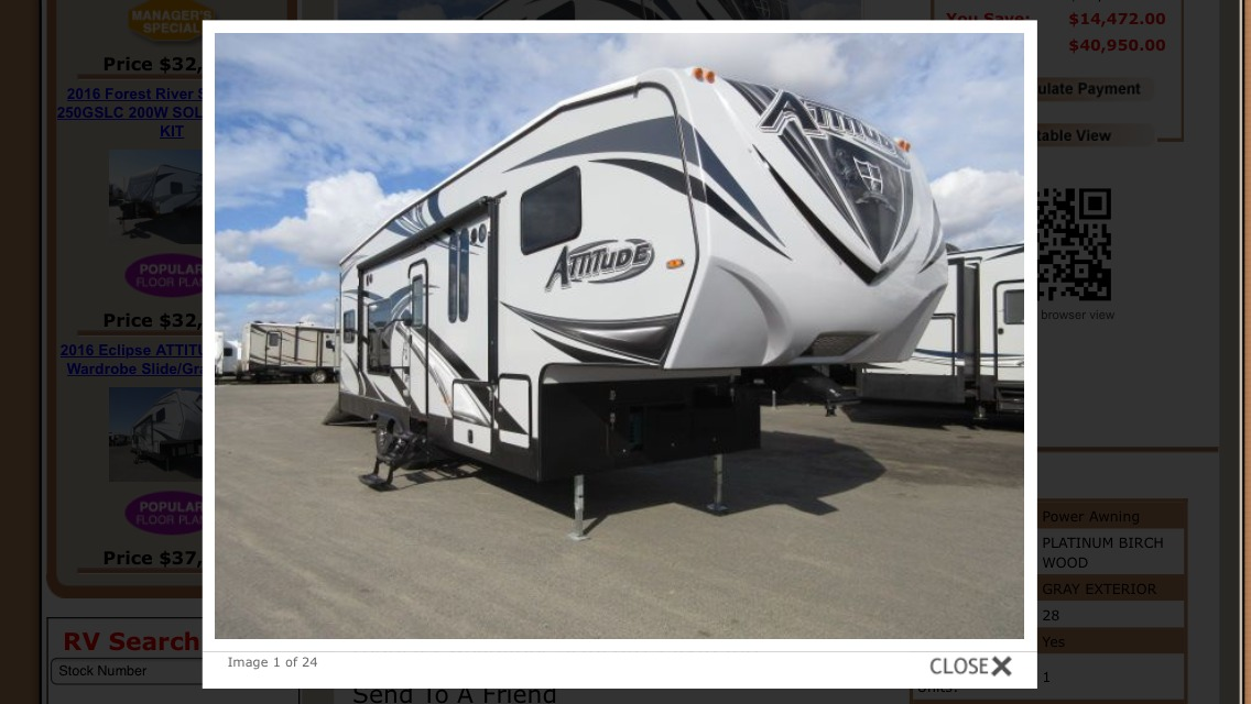 2017 Eclipse Recreational Vehicles ATTITUDE 28SAG