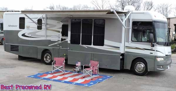 2006 Winnebago Adventurer 38 J 3 slides wood floors warranty