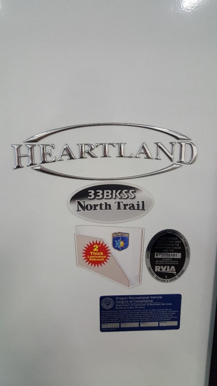 2016 Heartland NORTH TRAIL 33BKSS