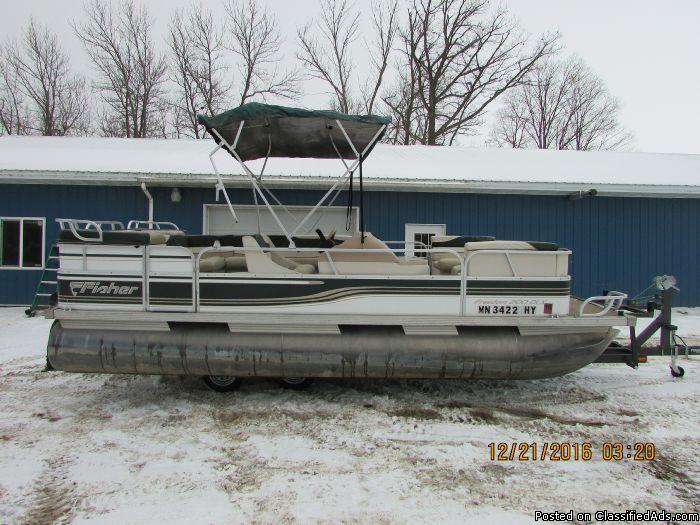 1996 Fisher Freedom 200 DLX 20' pontoon #6700