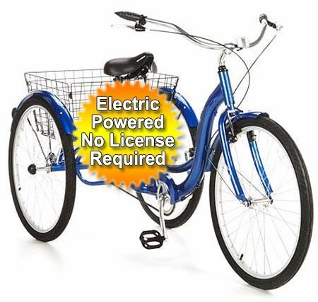 2016 Gsi 500 Watt Electric Powered Tricycle Motorized Trike 26