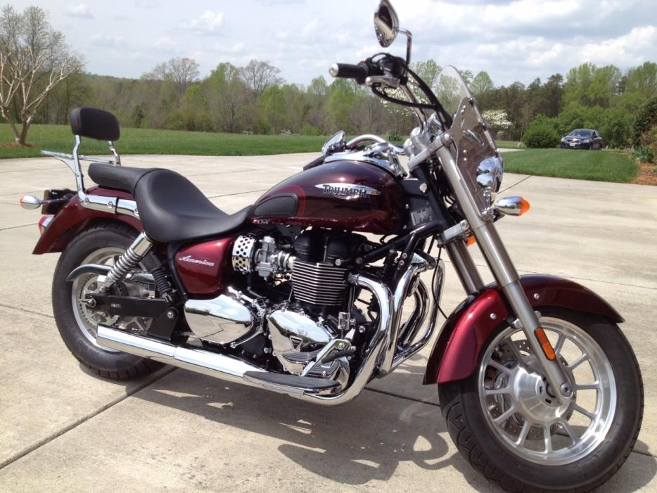 triumph america cinder red morello red motorcycles for sale