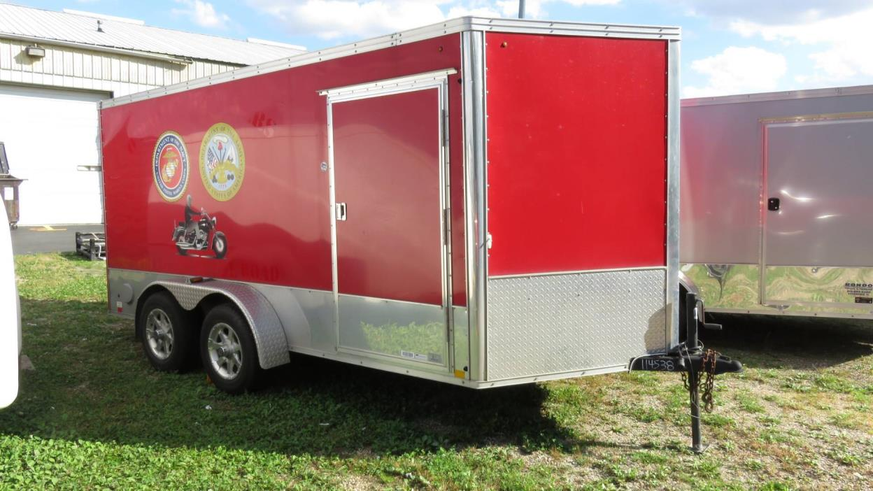 7x12 enclosed trailer motorcycles for sale