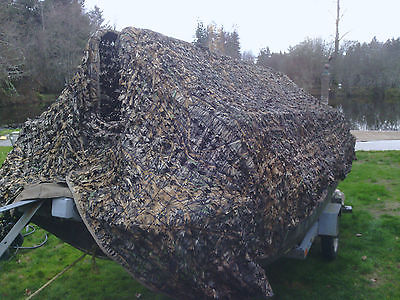1987 14' Livingston Camo Fishing Boat w/ 25hp Merc. & Camo Skirt/Cover