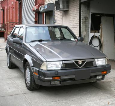 Alfa Romeo : Milano 1989 alfa romeo milano verde gray 5 speed 3 liter 4 door coupe