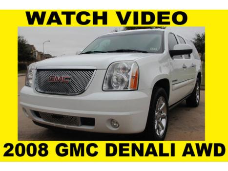 GMC : Yukon AWD 2008 denali xl awd clean title rust free navigation backup camera