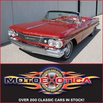 Pontiac : Bonneville Convertible 1960 pontiac bonneville convertible 89 ci tri power mustang killer