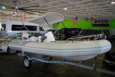 2010 Zodiac YL420 Deluxe 14' Boat, Evinrude 60HP, Bimini Top, Seats 6, More