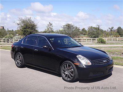 Infiniti : G35 3.5 V6 2006 infiniti g 35 sedan 3.5 l v 6 leather sunroof florida car alloy wheels auto