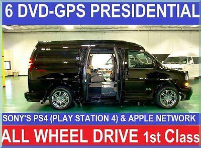 GMC : Savana MAJESTIC SSX -AWD PRESIDENTIAL First Class Presidential SE, 6DVD,GPS,RVC,APPLE,PS4, AWD Conversion Van