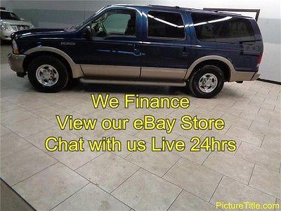 Ford : Excursion Eddie Bauer 2WD 03 excusion eddie bauer 2 wd diesel tv 3 rd row leather we finance 1 texas owner