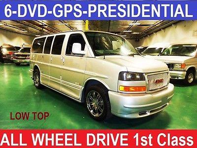 GMC : Savana ALL WHEEL DRIVE PRESIDENTIAL Presidential Custom Conversion AWD All Wheel Drive Conversion Van, 6DVD-GPS-RVC