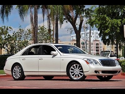 Maybach S ONLY 38K $1,419.00 Month 2009 WHITE SOLAR ROOF CURTAINS TABLES DVD BLACK LEATHER