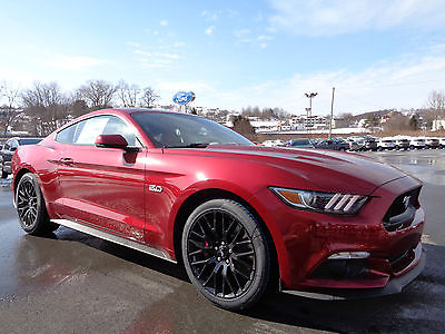 Ford : Mustang GT Coupe 5.0L V8 6-Speed Manual Navigation New 2015 Mustang GT Performance 5.0L 6 Speed Manual Nav Ruby Red RedLine Leather