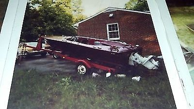 ORIGINAL 1965 DONZI SWEET 16 RUNABOUT W/ TRAILER -WINTER  PROJECT BOAT GITITDONN