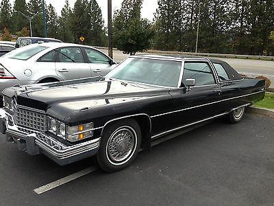 Cadillac : DeVille coupe 1974 cadillac coup deville triple black 472